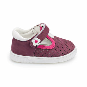 Girl's Purple Leather Shoes