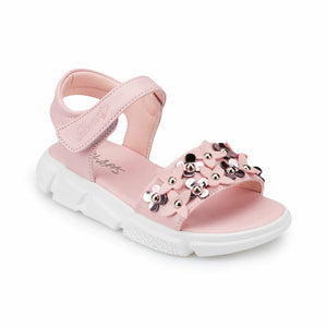 Girl's Flower Detail Pink Sandals