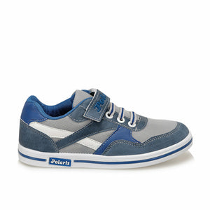 Boy's Banded Blue Grey Sneakers