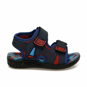 Boy's Navy Blue Red Sandal