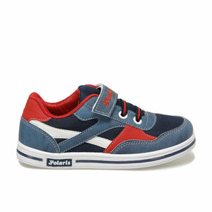 Boy's Strap Navy Blue Sneakers