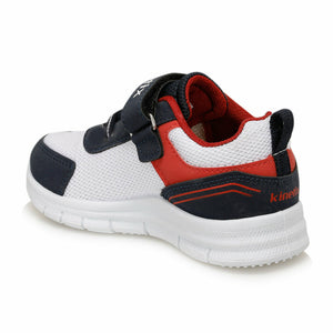 Boy's Navy Blue White Running Shoes
