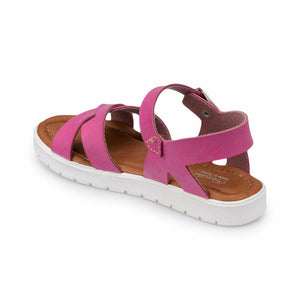 Girl's Fuchsia Buckle Sandals