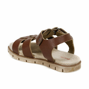 Boy's Brown Leather Sandals