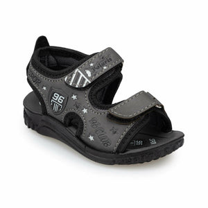 Boy's Grey Black Sandals