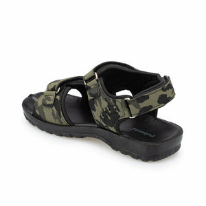 Boy's Camo Pattern Green Sandal