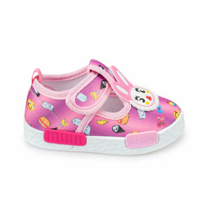 Girl's Printed Pink Shoes