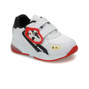 Boy's White Red Sneakers