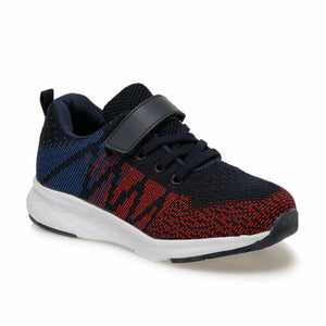 Boy's Navy Blue Red Walking Shoes