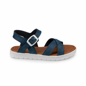 Girl's Buckle Navy Blue Sandals