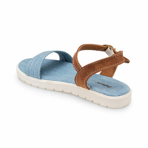 Girl's Blue Brown Sandals