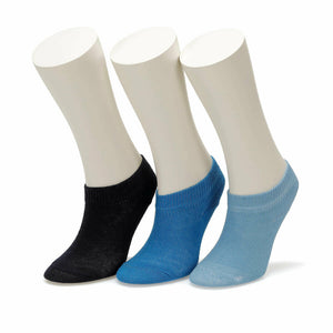 Boy's Blue Black Booties Socks- 3 Pairs