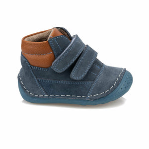 Baby Boy's Velcro Strap Blue Boots