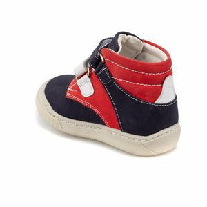 Boy's Velcro Strap Navy Blue Boot