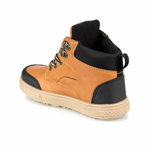 Boy's Lace-up Camel Ankle Sneakers