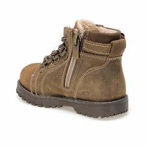 Boy's Sand Beige Leather Boots