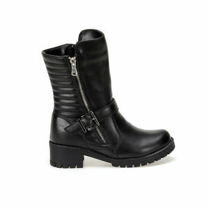 Girl's Zipped Black Boots