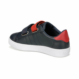 Boy's Velcro Strap Navy Blue Sneakers