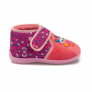 Girl's Velcro Strap Pink Snoozies
