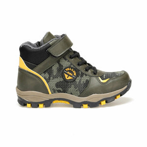 Boy's Camo Pattern Khaki Outdoor Boots