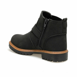 Boy's Buckle Black Boots