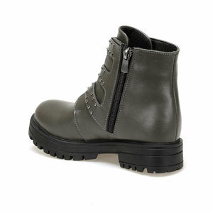 Girl's Belted Anthracite Boots