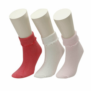 Girl's Basic Socket Socks- 3 Pieces