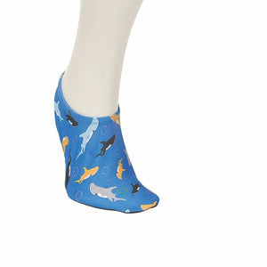 Boy's Fish Print Blue Socks