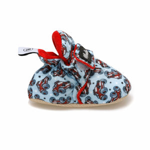 Boy's Velcro Strap Patterned Snoozies