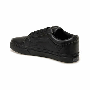 Boy's Lace-up Black Sneakers