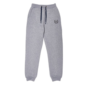 Girl's Pocket Grey Melange Sweatpants