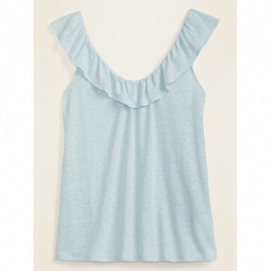 Girl's Sleeveless Blue Blouse