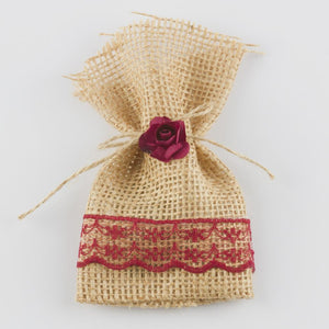 Lace Detail Straw Henna Pouch (1 Piece)