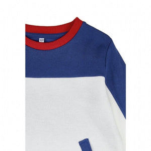 Boy's Pocket Color Block Sweatshirt