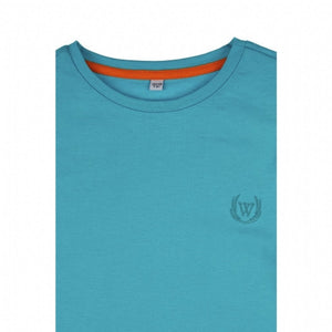 Boy's Long Sleeves Turquoise T-shirt