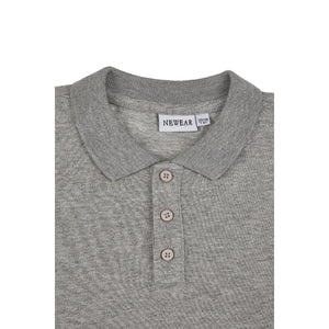 Boy's Long Sleeves Grey Polo T-shirt