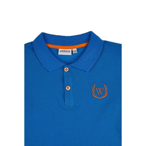 Boy's Long Sleeves Saxe Polo T-shirt
