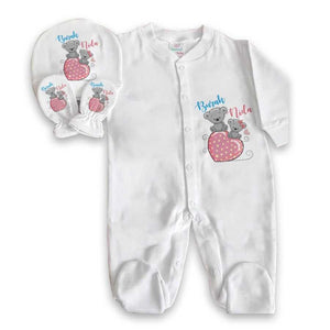 Baby Girl's Personalized Romper Set