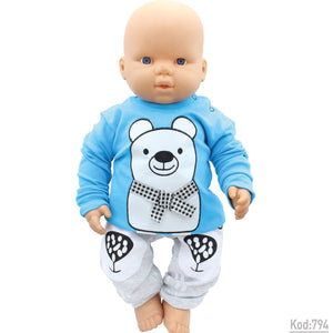 Baby's Bear Print Outfit- 2 Pieces