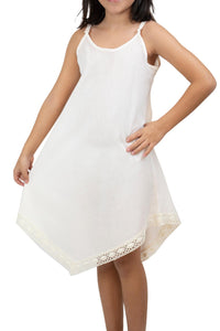 Girl's Cream Short Dress