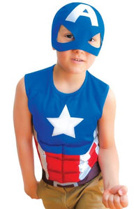Captain America Summer T-Shirt (Ages 7-9)