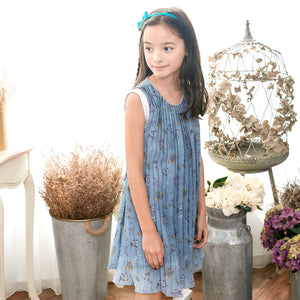 Blue Floral Dress (toddler/girl)