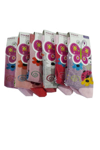 Girl's Printed Socket Socks- 6 Pairs