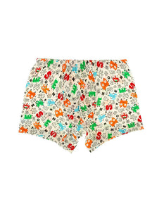 Boy's Letter Print Boxer- 2 Pieces