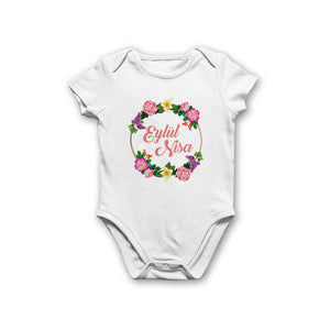 Baby Girl's Personalized Bodysuit