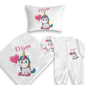 Baby's Personalized Newborn Gift Set