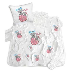 Baby's Personalized Newborn Set- 11 Pieces