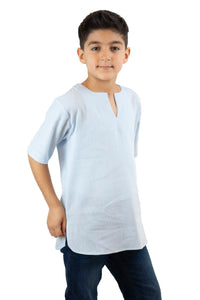 Boy's Short Sleeves Ice Blue T-shirt