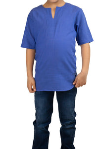Boy's Short Sleeves Saxe T-shirt