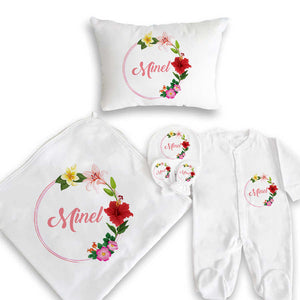 Baby Girl's Newborn Gift Set- 5 Pieces